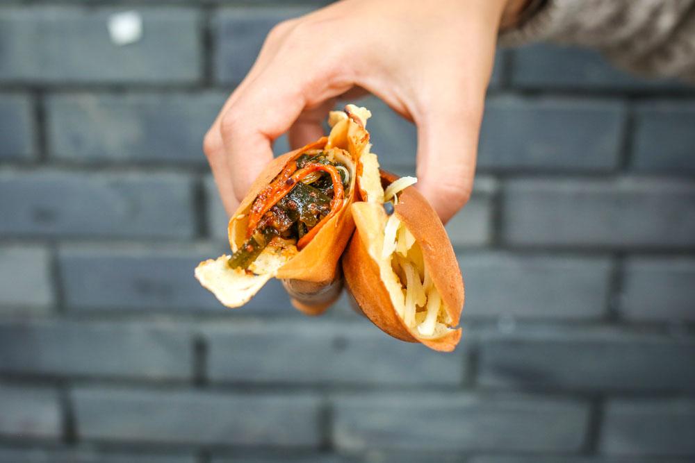 Chengdu Evening Food Tour Pancakes Hand